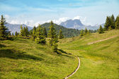 Mountain trail in French Alps — Stock Photo