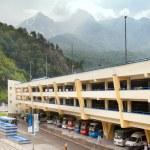 Parking in Caucasus mounains — Stock Photo #57445089