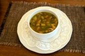 Lenten soup with mushrooms — Stock Photo