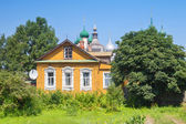 Old russian wood house in Rostov — Photo