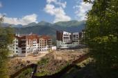 Construction of hotel in Sochi — Stock Photo