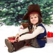 Small boy in dress of pirate — Stock Photo #57513043
