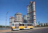 Tram on Stroginskoye highway — Foto de Stock
