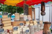 Cheese market — Stock Photo