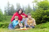 Rodina na pikniku — Stock fotografie