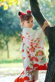 Kimono girl — Stock Photo