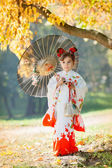 Child in  kimono — Stock Photo