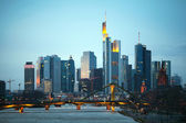 View of Frankfurt am Mine — Stock Photo