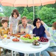 Family from five persons have got dinner — Stock Photo #64057757
