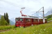 Mountain tram at the Bionnassay glacier — Foto Stock