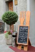 Blackboard with italian  menu — Stock Photo