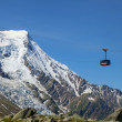 The cabin of cable car from Chamonix — Stock Photo #65176547
