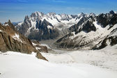 The Mer de Glace (Sea of Ice) — Stock Photo