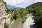 River Ouveze at Vaison-la-Romaine — Stock fotografie