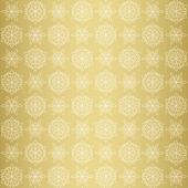 Christmas seamless pattern with snowflake, gold — Stockvector