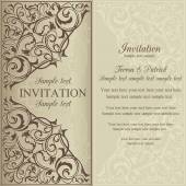 Orient invitation, brown and beige — Stock Vector