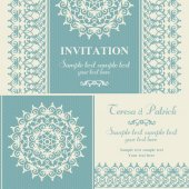 Christmas winter invitation, blue and beige — Stock Vector