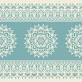 Christmas seamless pattern with snowflake, blue — Stockvector