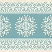 Christmas seamless pattern with snowflake, blue — 图库矢量图片