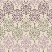 Fialová, hnědá a růžová barokní vzor — Stock vektor