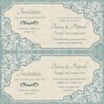 Baroque invitation, blue and beige — Stock Vector #75280863