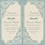 Baroque invitation, blue and beige — Stock Vector #75281055