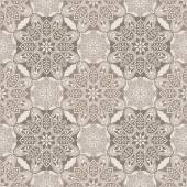 Mandala geometric pattern, brown and  beige — Vettoriale Stock
