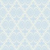 Patrón de luz barroca azul — Vector de stock