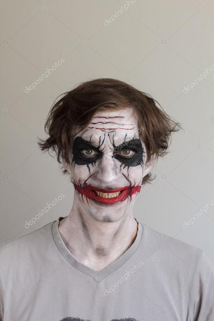 Pintura facial de halloween fotografias de stock - Pinturas para halloween ...