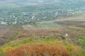 Alazani Valley aerial view in autumn , Sighnaghi, Kakheti region — Stock Photo
