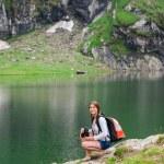 Scene from Balea Lake, Romania. — Stock Photo #78655980