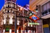 Gran via metro station in the center of Madrid — Stock Photo