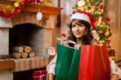 After shopping for Christmas — Stock Photo