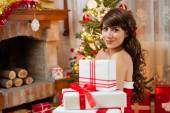 Time for Christmas presents — Stock Photo