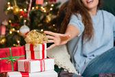 Christmas time, presents time. — Stock Photo