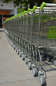 Close up shopping carts — Stock Photo