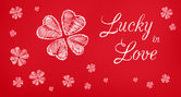 Lucky in Love greeting banner — Стоковое фото