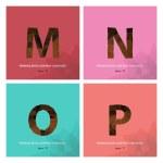 """Alphabet letter """" M """","""" N """","""" O """","""" P """" — Stock Vector #63881597"""