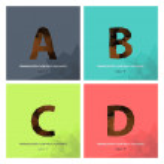 "Alphabet letter "" A "","" B "","" C "","" D "" — Stock Vector #63881747"