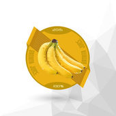 """Juice Label """" Banana Juice """" — Stock Vector"""