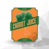 "Juice Label "" Carrot Juice "" — Stock Vector"