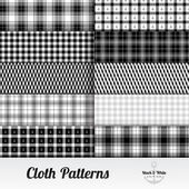 Fabric Cloth Pattern Set — Stock Vector