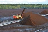 Peat extraction — Stock Photo