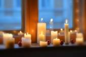 Blurry Candles light — Stock Photo