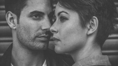 Intimate model couple — Stock Video