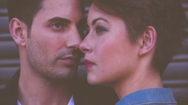 Intimate model couple — Vídeo Stock