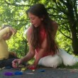 Woman and Toddler Using Play Dough — Stock Video #53104953
