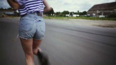 Teenager Running — Stock Video