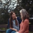 Grandmother and granddaughter talking — Stock Video #61182217