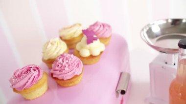 Kolorowe torty — Wideo stockowe
